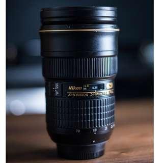 Nikon AF-S NIKKOR 24-70mm f/2.8G ED 95%新