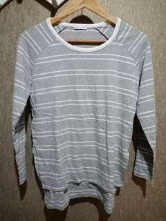 Zara Gray Stripes Sweater