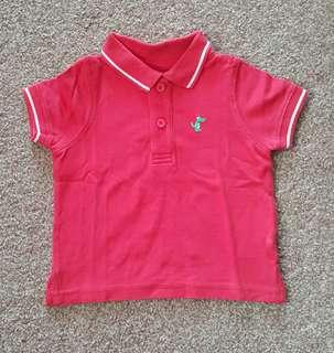 Collared Tee Mothercare 9-12m