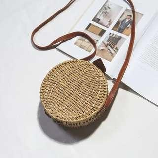 Korea Style women summer Straw Bag sling bag