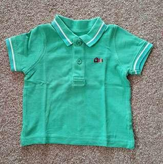 Collared Tee Mothercare 9-12m Green