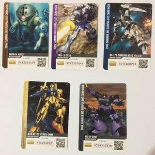 Cards (2006 Summer MG Gunpla Lot Campaign)