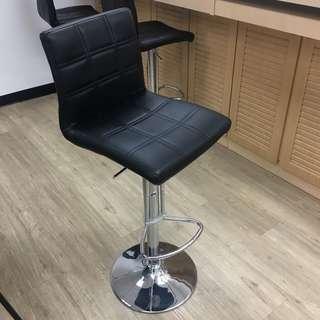 黑色仿皮吧椅 Bar Stool