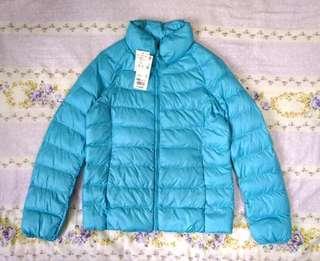🚚 全新日本 UNIQLO 優衣庫 公司貨 兒童 WARM PADDED 極輕 舖棉外套 羽絨外套 水藍 150cm