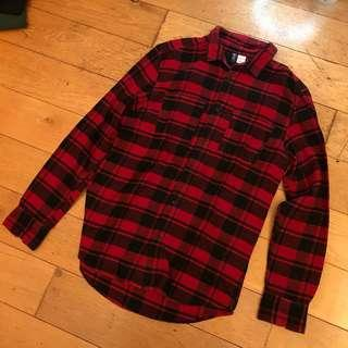 H&M Divided Red Flannel Shirt