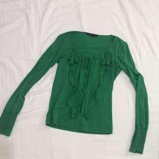 Green Blouse/Longsleeve