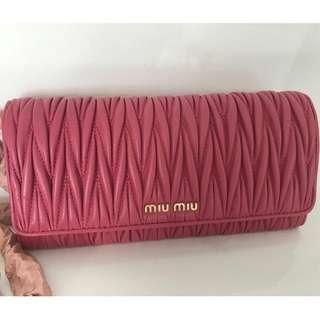 Miu Miu MATELASSE Wallet Bag