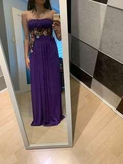 Custom Purple Dress