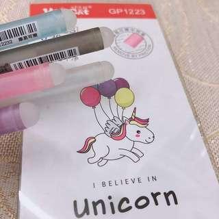 12PCS Unicorn Eraser Pen