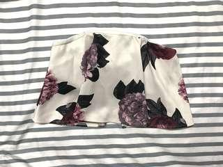 Floral tube tops