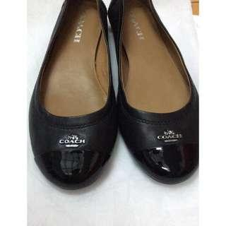 🚚 Coach真皮娃娃鞋37.5 24.5