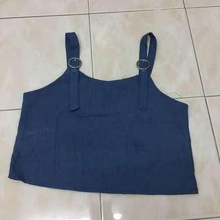 Blue Crop Top