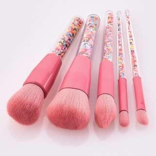 Colorful Particles Transparant Make Up Brush