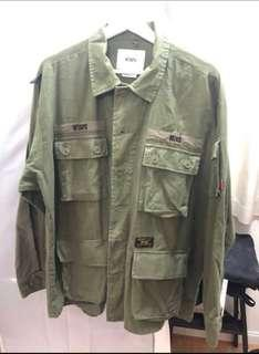 WTAPS 17AW Jungle shirt / Olive Drab / Size M / 95% new