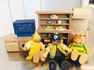 Wood Doll House Accessories #1