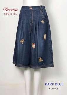 DR 熊仔繡花牛仔裙褲 (S~XL size)
