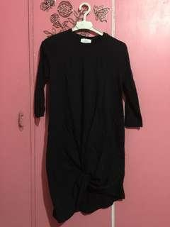 Zara Black Knotted Dress
