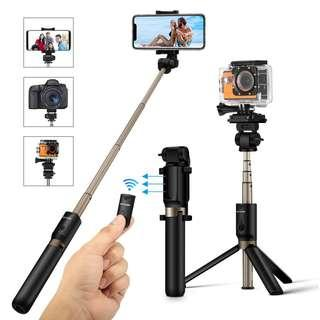 2630. Selfie Stick Tripod with Remote for Action Camera iPhone Android 3.5-6 inch Smartphone - BlitzWolf 4 in 1 Selfie Stick