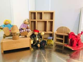 Wood Doll House Accessories # 3