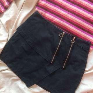 ZARA Ring Zipped Skirt