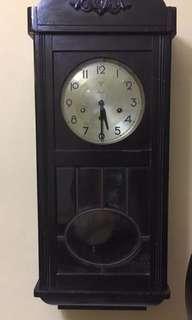 Antique Mauthe 3 Hole Wall Clock