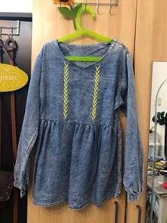 Babydoll Denim Top