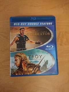 Blu-ray Gladiator & Troy 無中文字幕