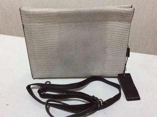 Clutch bag crocodile texture (sling bag)