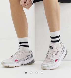 800ee7892521 ADIDAS original falcon trainer in Grey Silver Pink