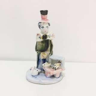 Clown porcelain figurine