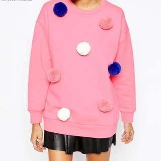[New]  粉紅 休閒 衛衣