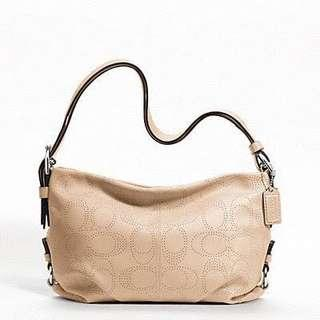 COACH PERFORATED LEATHER DUFFLE TOTE