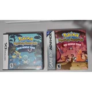 Pokemon Mystery Dungeon Red & Blue Rescue Team (Nintendo)