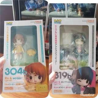 MISB Rin and wooser, Len and darthwooser nendoroid #304b and 319b set Good smile company, gsc