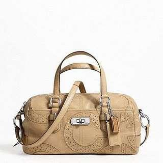 COACH CHELSEA INLAID PERFORATED LEATHER REESE SATCHEL
