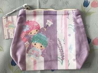 Little Twin Star 雙子星 日式 和風 紫色 薰衣草 化妝袋 全新
