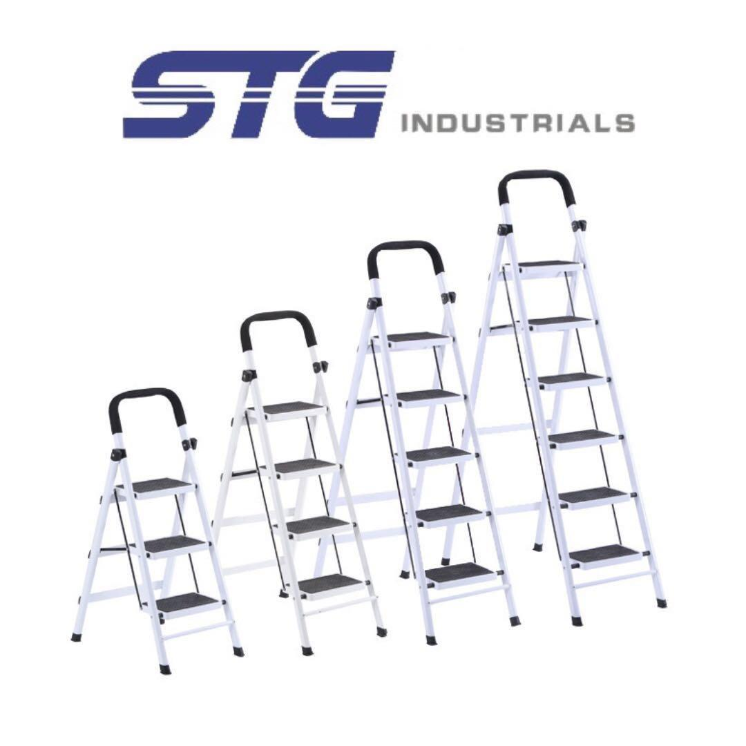 Magnificent 3 4 5 6 Step Folding Foldable Ladder Step Stool Gardening Squirreltailoven Fun Painted Chair Ideas Images Squirreltailovenorg