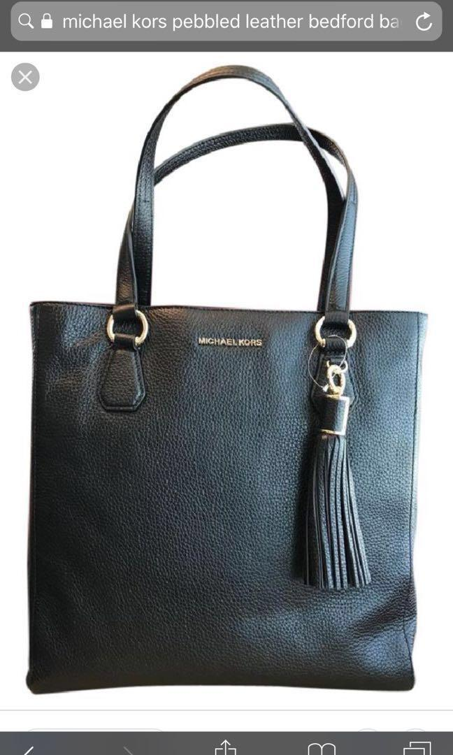 Michael Kors bag (black pebbled leather) Bedford zip - rare