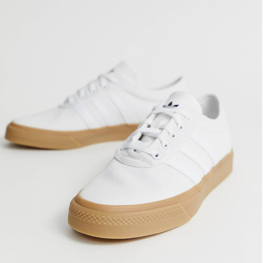 044d34eb7c9d0 Adidas Adi Ease White/Gum, Men's Fashion, Footwear, Sneakers on ...