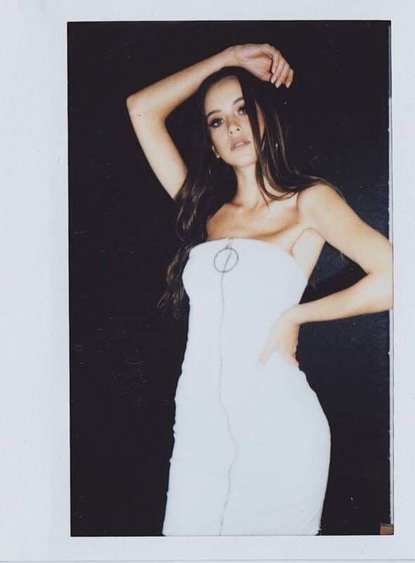 ASIAM princess polly white strapless zip o-ring dress