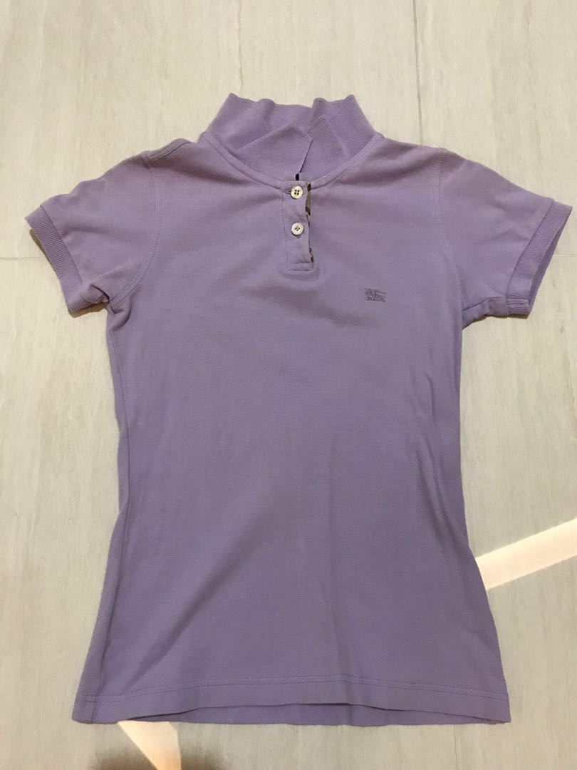 f87209d22 Authentic Burberry London Lavender Polo Tee, Women's Fashion ...