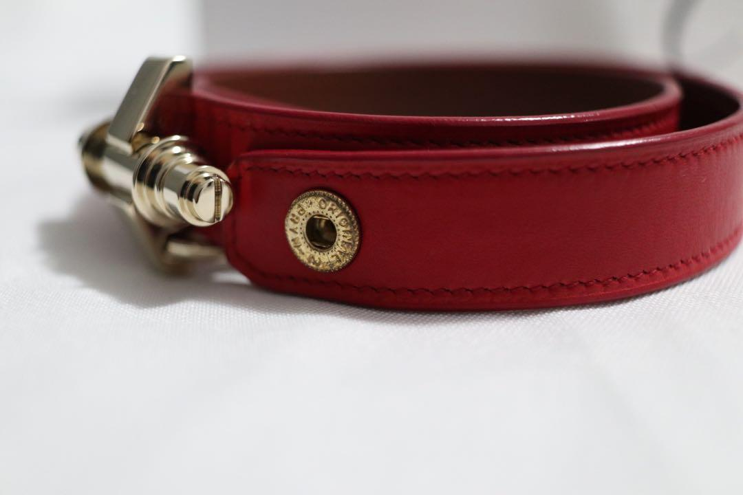 Authentic Givenchy Obsedia Wrapped  leather bracelet in red