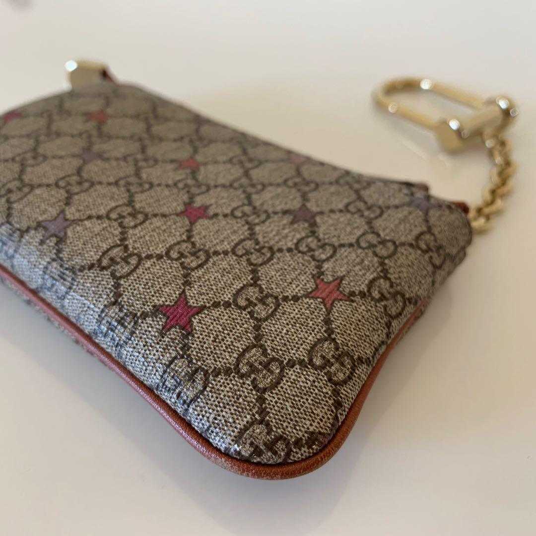 Authentic Gucci GG Supreme Stars Key Case