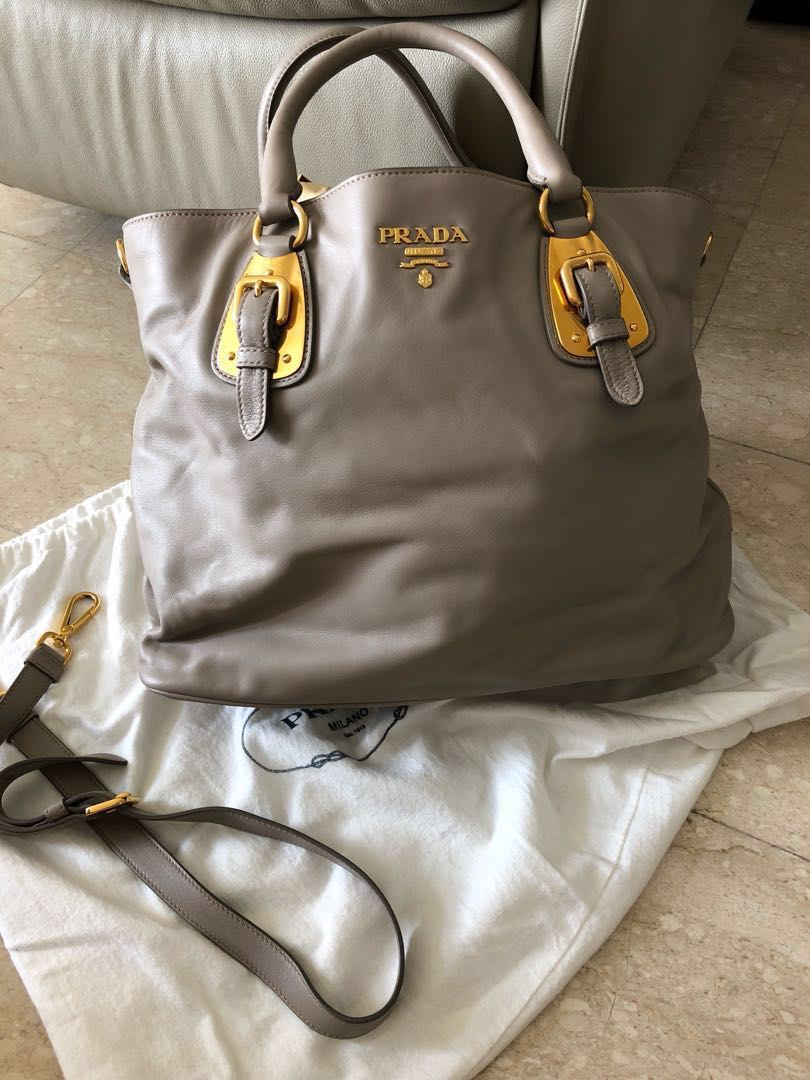 a2311a6ba57ad7 Authentic Prada soft calf tote bag, Luxury, Bags & Wallets, Handbags ...