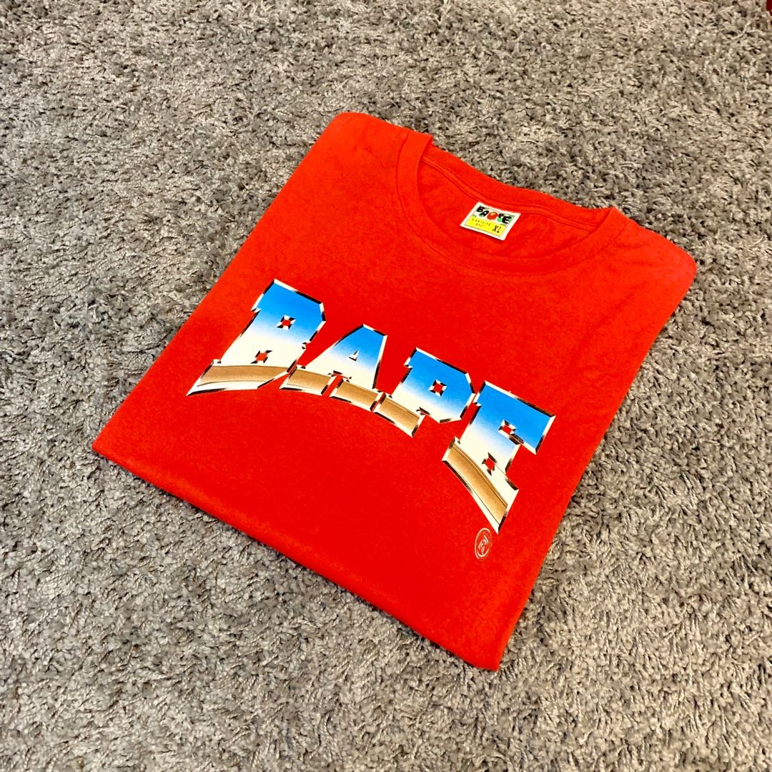 d652886d Bape Metal Tee, Men's Fashion, Clothes, Tops on Carousell