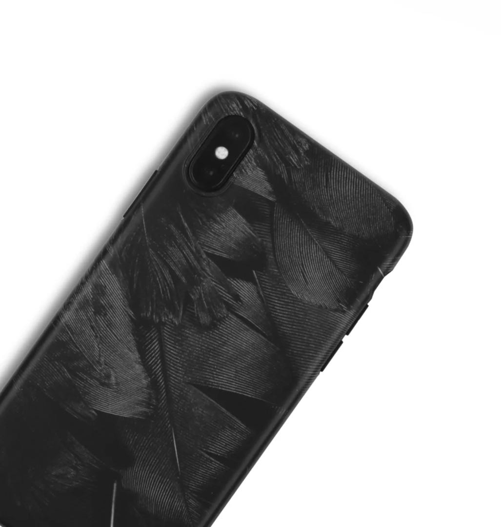 info for 7f96c f25ae Black Feather Matte Silicone Phone Case