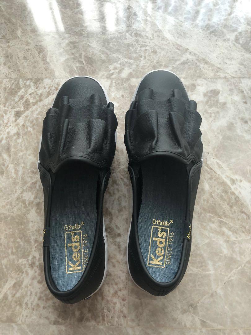 BNiB) Keds triple ruffle leather shoes
