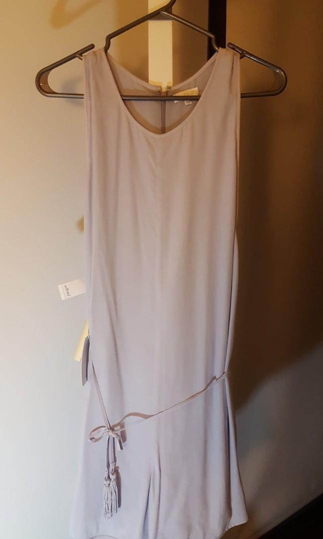 BNWT Aritzia Wilfred Rayana Romper Dusted Lavender Small