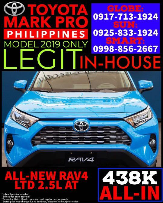 Brand New 2019 New Toyota RAV4 LE AT - Call 09258331924 Serious Buyers Only