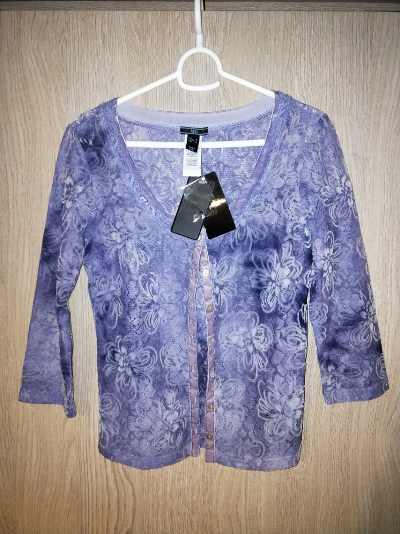 3bac85e67a8b BRAND NEW MNG PURPLE LACEY CARDIGAN, Women's Fashion, Clothes ...